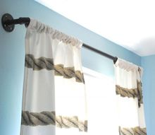 finding style in the plumbing aisle industrial pipe curtain rods, diy, home decor, how to, repurposing upcycling