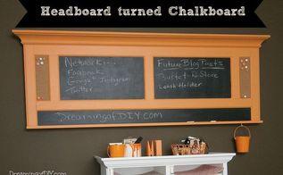 habitat restore headboard turned chalkboard, chalkboard paint, crafts, repurposing upcycling