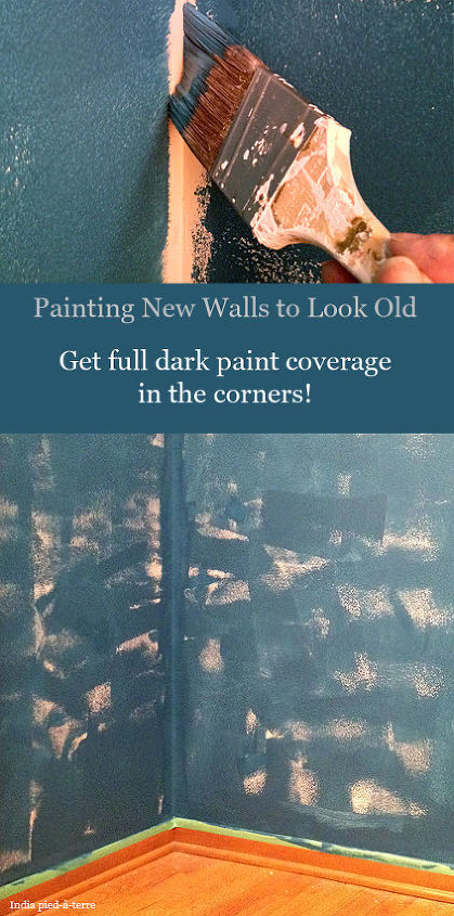 Old walls are darker in the corners because they're touched and worn down less there. So pay attention to your corners and the edges of the wall (top, bottom) - get some dark color into those corners.