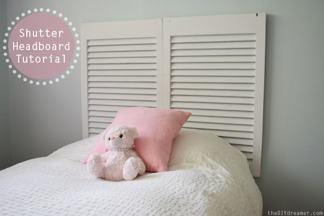 Gorgeous Shutter headboard