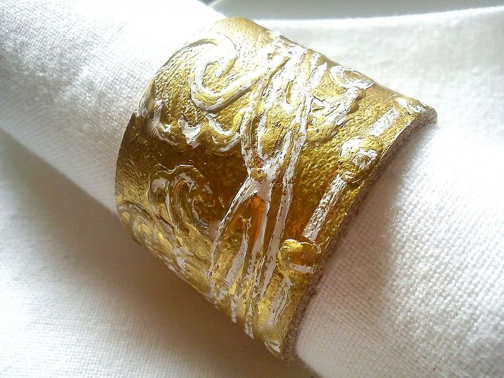 leather & twine free-hand painted gold