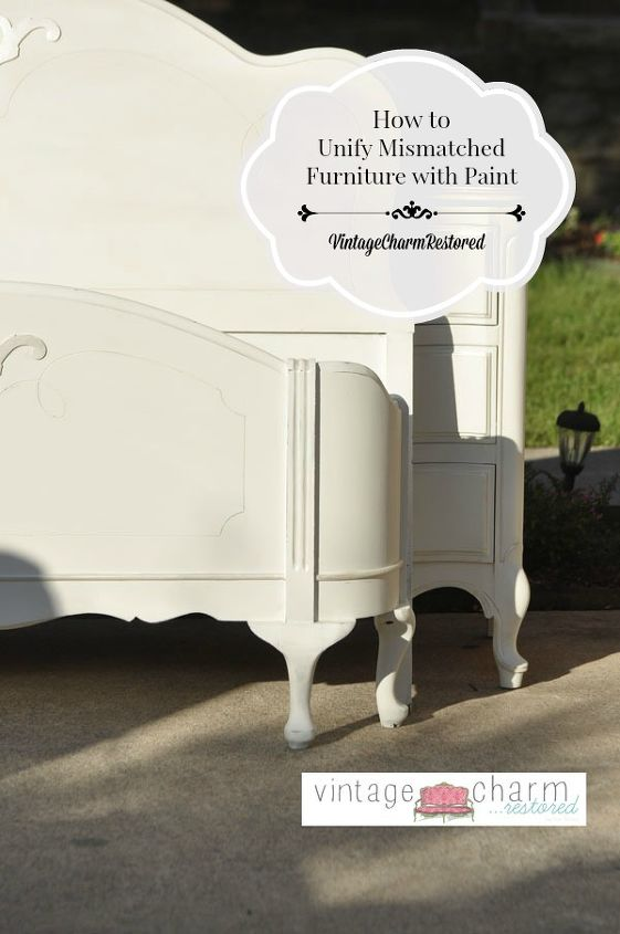 How To Unify Mismatched Furniture With Paint Hometalk - Mismatched bedroom furniture