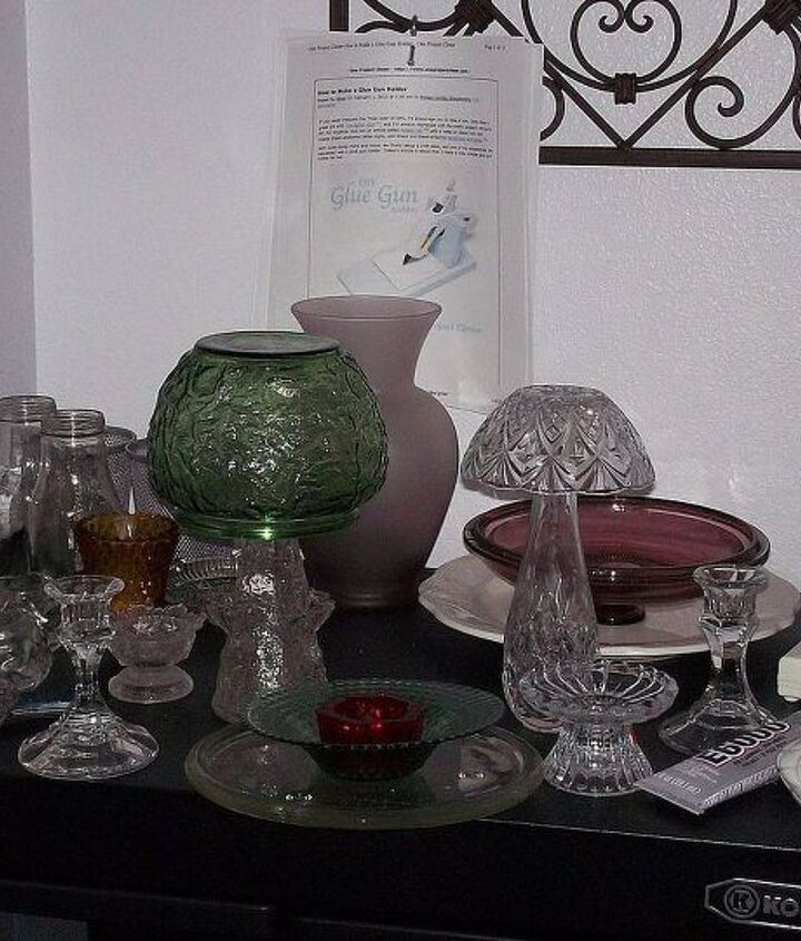 glass stash for flowers and mushrooms