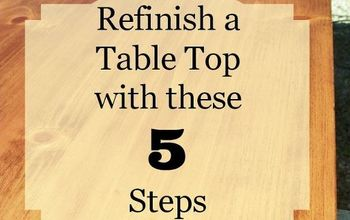 5 Steps to Refinish a Table Top or Desk