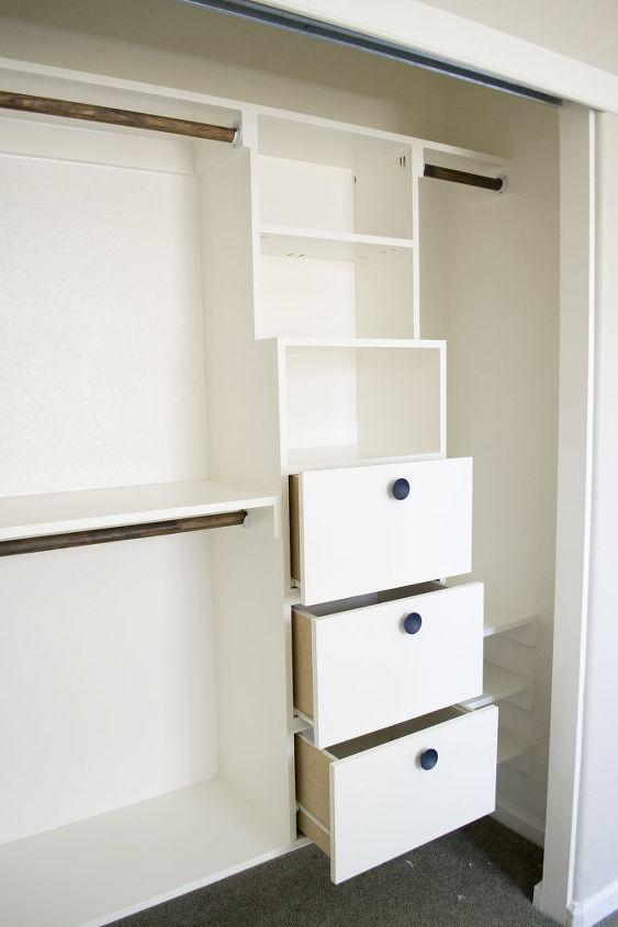 3 large, deep drawers