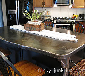 A bullet proof FUNKY METAL kitchen island top Hometalk