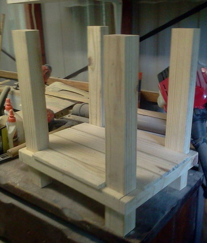 end table a little different, diy, painted furniture, woodworking projects