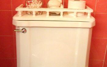 A Vintage Toilet Tank Shelf Makeover