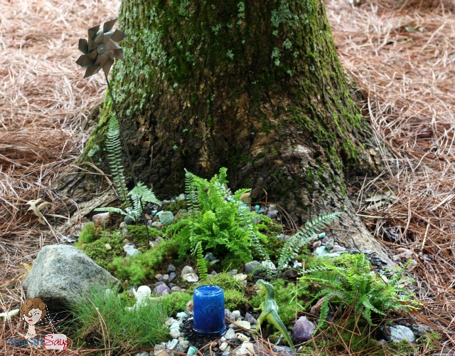 create an outdoor fairy garden with your kids, gardening