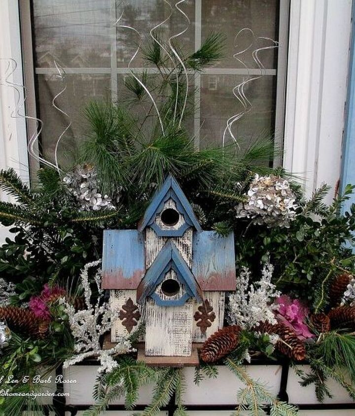 The other front window box with a birdhouse. http://pinterest.com/barbrosen/