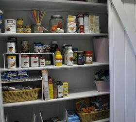 The Pantry Stretches Across The Whole Wall And The Door Opens To One Side  Or The