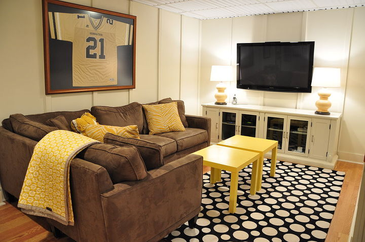 complete diy basement renovation, basement ideas, entertainment rec rooms, home decor, window treatments