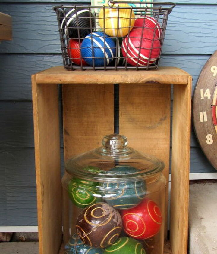 Croquet and bocce balls.