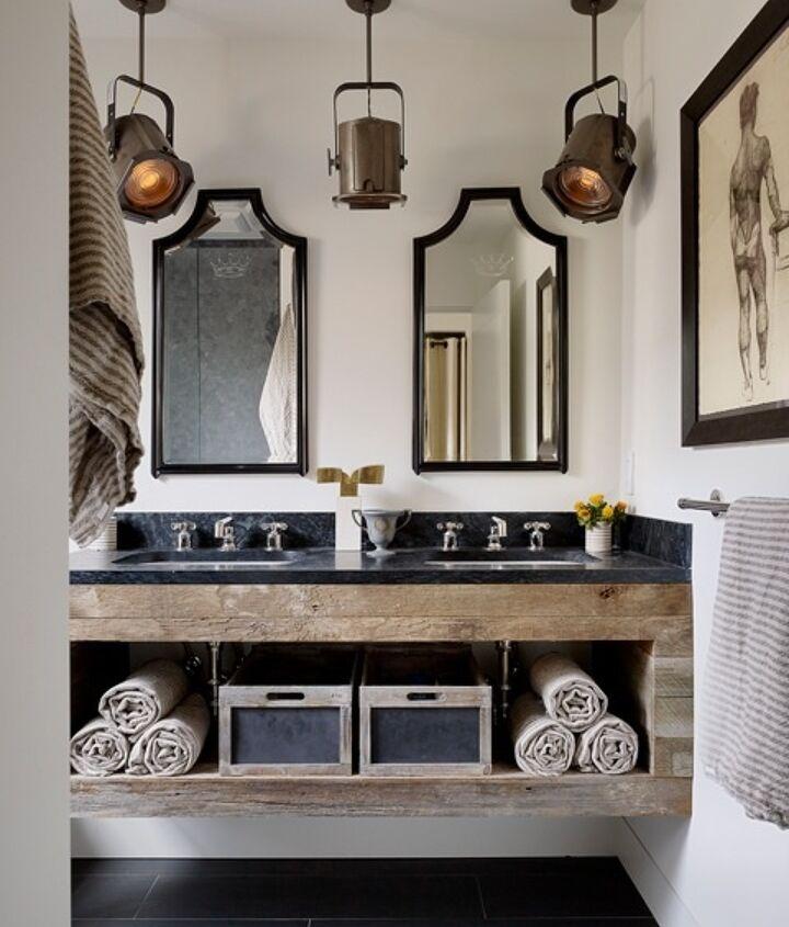 q reclaimed wood bathroom vanity, bathroom ideas, diy, painted furniture, repurposing upcycling, rustic furniture, woodworking projects