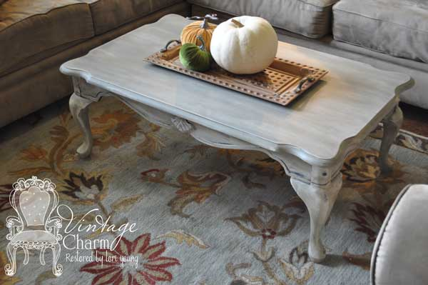 Weathered Grey Coffee Table Painted Furniture Shabby Chic Redo