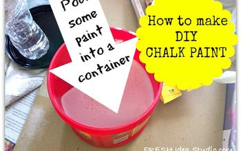 what do you like to use when you paint furniture, chalk paint, painted furniture, Start by pouring in your paint of choice into a container I like to use the plastic ones with lids