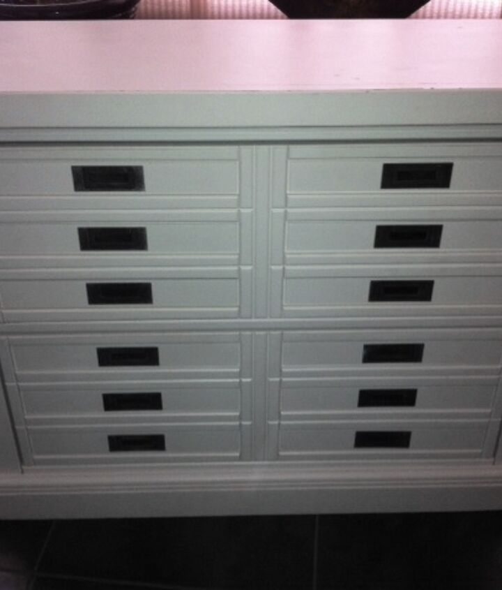 All White Pottery Barn Cabinet