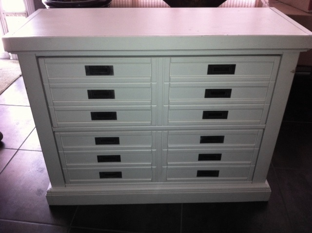 q pottery barn find need help in painting ideas, painted furniture, All White Pottery Barn Cabinet