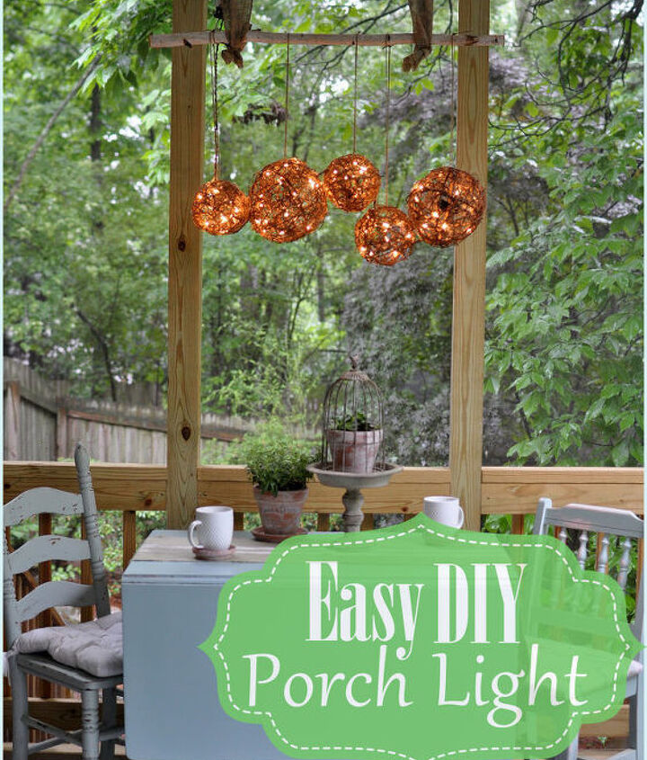 I added a bit of fun to my screen porch with an easy outdoor porch light!