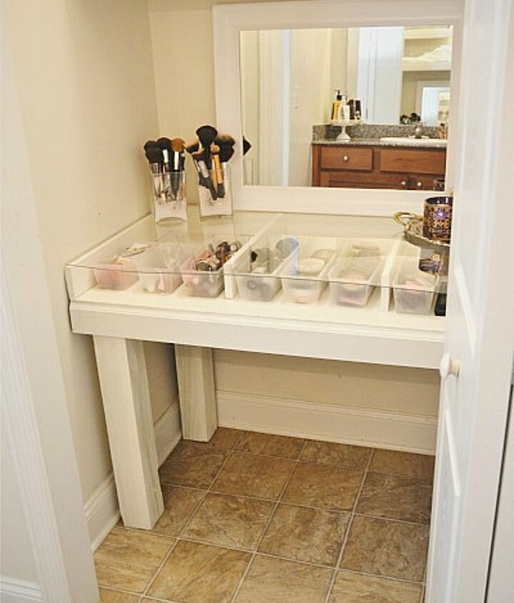 Diy Glass Top Makeup Vanity Desk Hometalk
