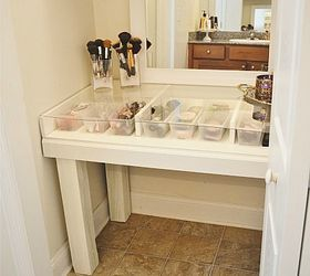 Delightful Diy Glass Top Makeup Vanity Desk, Diy, How To, Painted Furniture, The