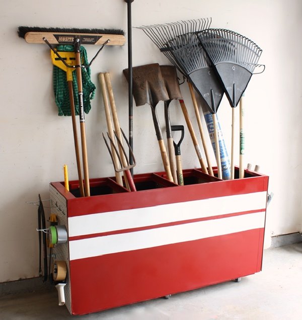 Transform An Old Filing Cabinet Into A Garage Storage Unit