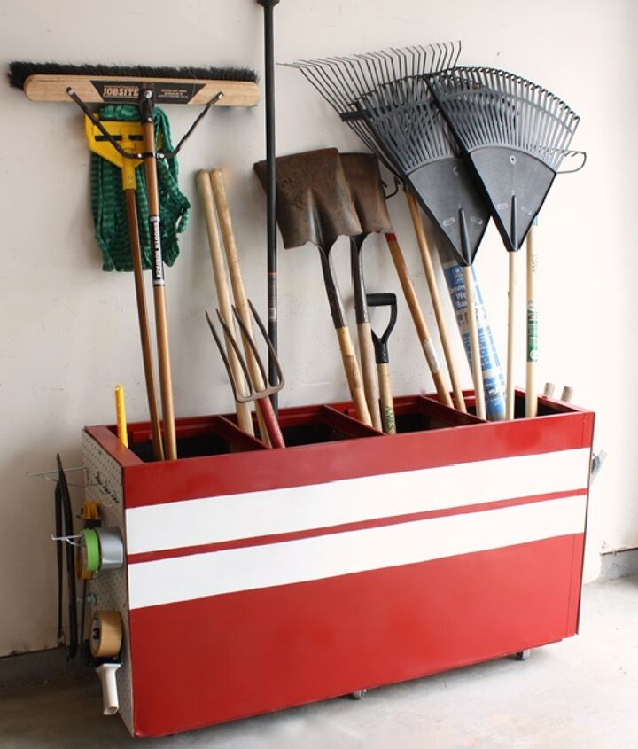 transform an old filing cabinet into a garage storage unit, garages, repurposing upcycling