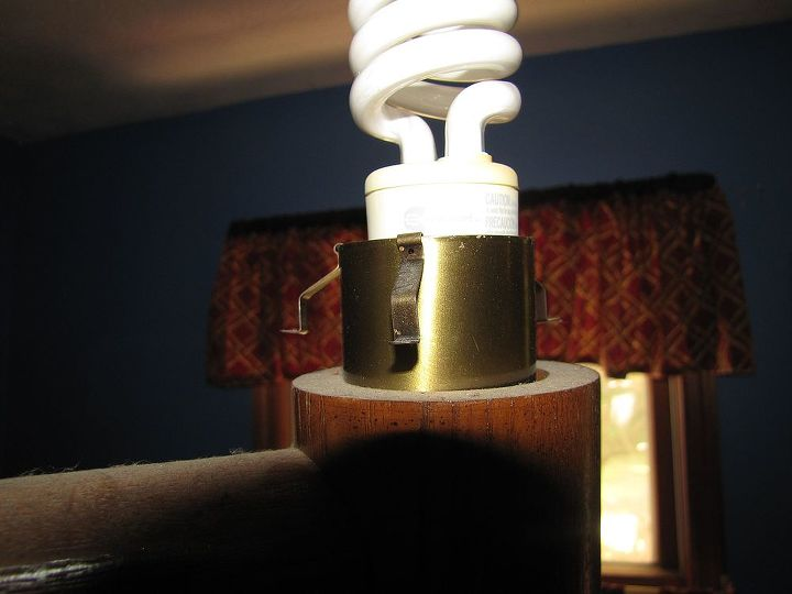 Three clips around the light hold the shade in place