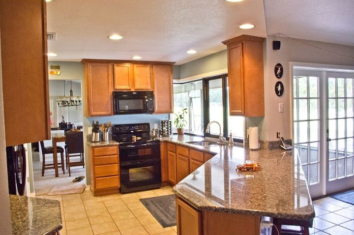80 s kitchen before and after, countertops, home decor, home improvement, kitchen design